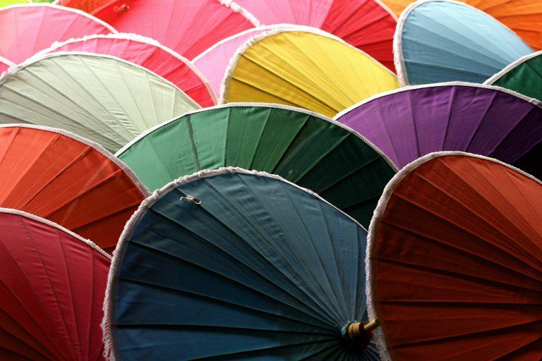 Handmade umbrellas, Thailand