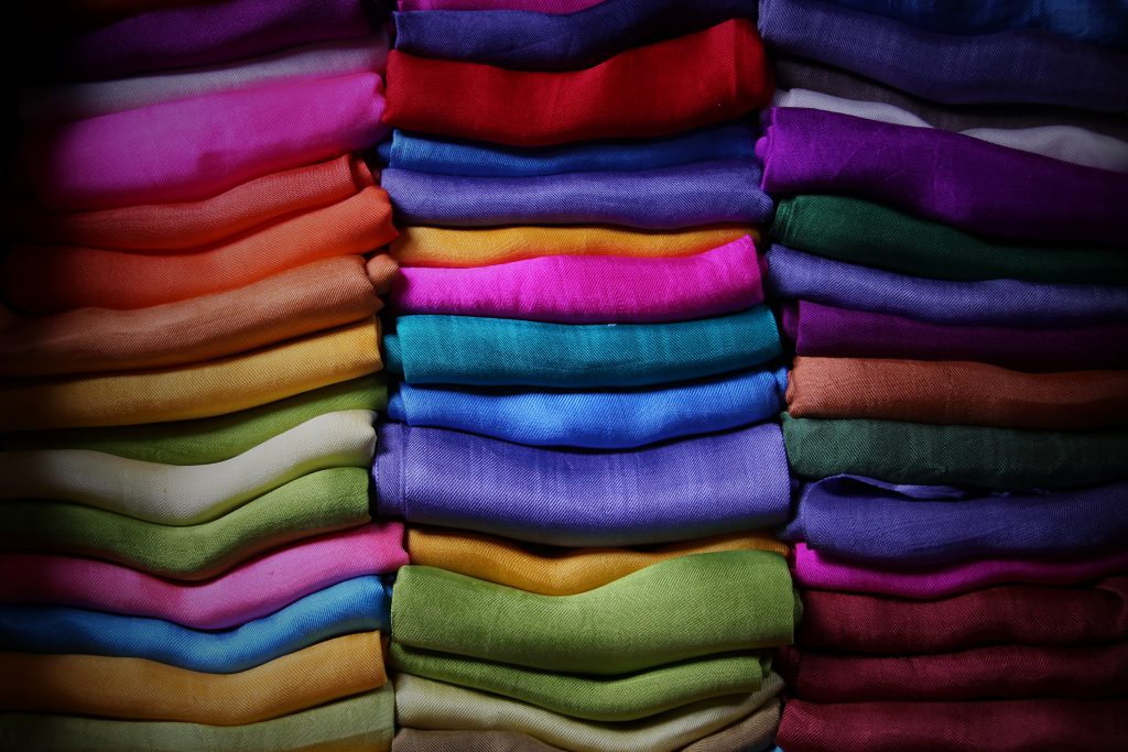 Colorful fabric, Myanmar