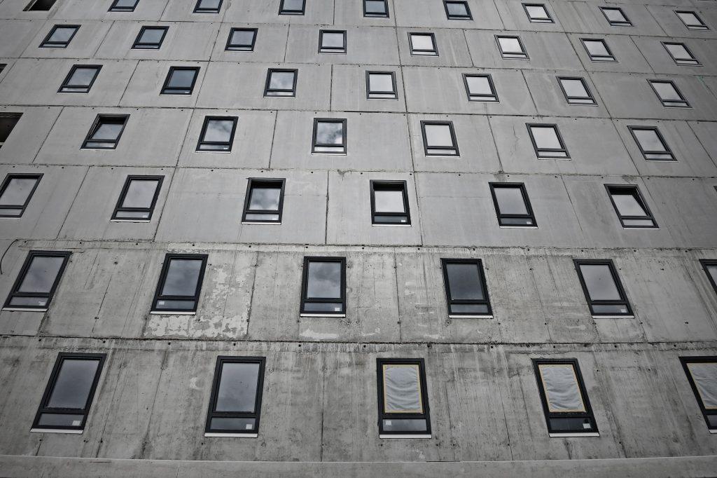 A half ready hotel building in Vienna, Austria
