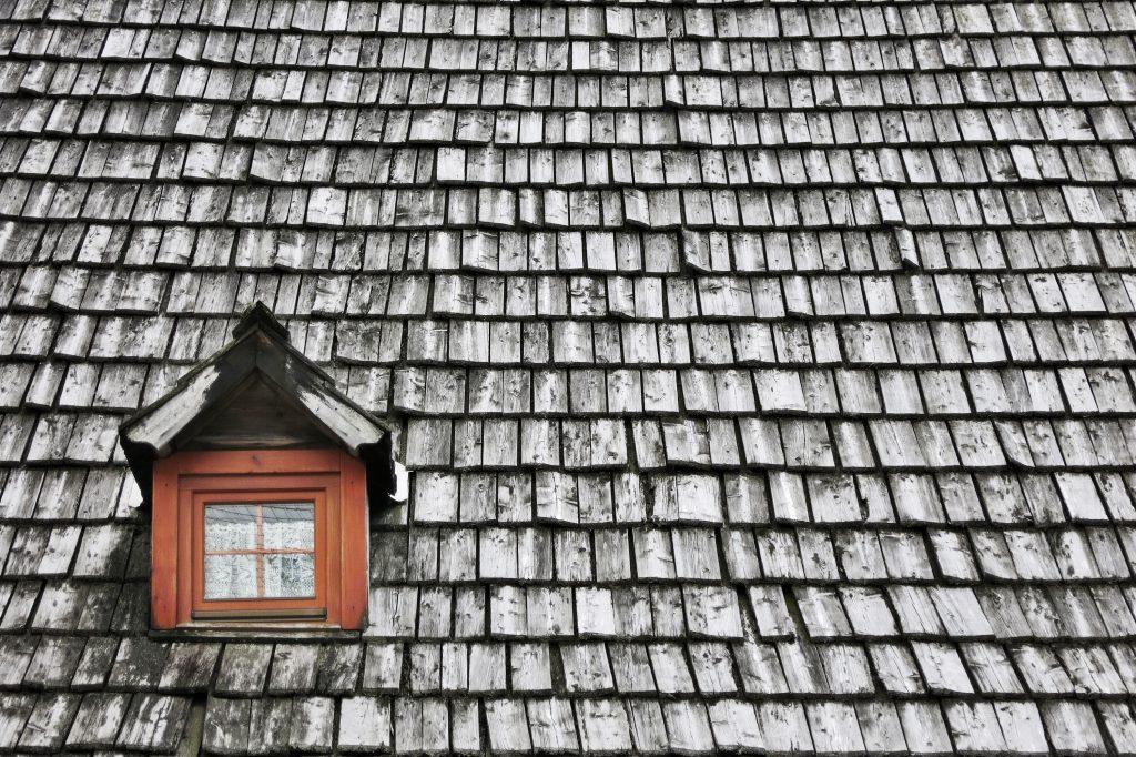 Wooden roof in Annaberg, Austria
