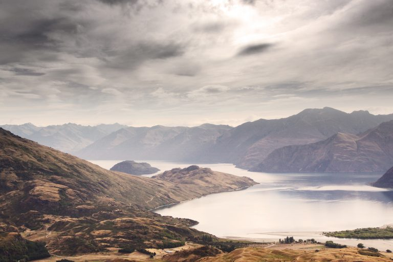 Lake Wanaka, New Zealand in December